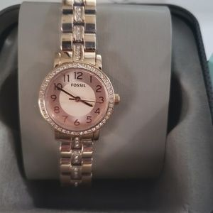 NEW Fossil Womens Stainless Watch BQ1430(Pink)
